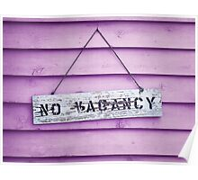 No Vacancy on Pink Poster