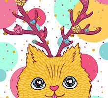 summer cat by Anna Alekseeva