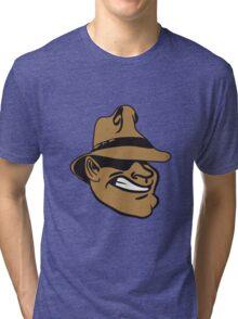 Face gangster Hat Tri-blend T-Shirt