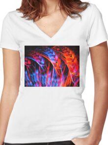 Summer Hyacinths Women's Fitted V-Neck T-Shirt