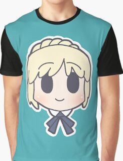 Fate Zero Saber Chibi Graphic T-Shirt