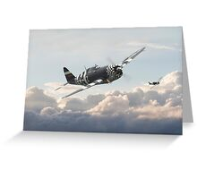 P47G - Thunderbolt    Combat Pair Greeting Card