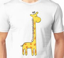 Cute giraffe and flowers  Unisex T-Shirt