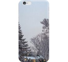 Winter Morning Snow Scene iPhone Case/Skin