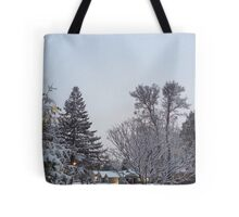 Winter Morning Snow Scene Tote Bag