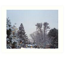 Winter Morning Snow Scene Art Print