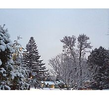 Winter Morning Snow Scene Photographic Print