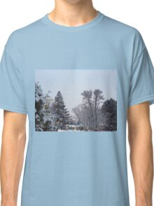 Winter Morning Snow Scene Classic T-Shirt
