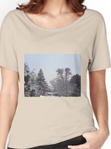 Winter Morning Snow Scene Women's Relaxed Fit T-Shirt