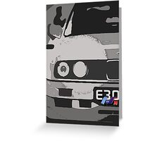 E30 with M Ribon Greeting Card