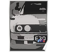 E30 with M Ribon Poster