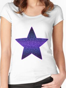 Glitter Graphic Women's Fitted Scoop T-Shirt