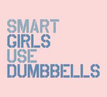 Smart Girls Use Dumbbells (blue) Kids Clothes