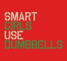 Smart Girls Use Dumbbells (crm/grn) One Piece - Short Sleeve