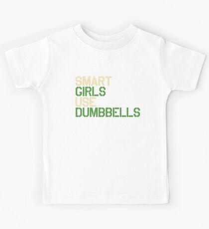 Smart Girls Use Dumbbells (crm/grn) Kids Tee