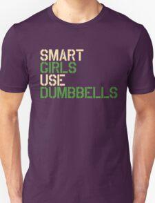 Smart Girls Use Dumbbells (crm/grn) T-Shirt