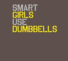 Smart Girls Use Dumbbells (yel/gry) T-Shirt