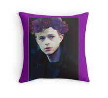 Dane DeHaan and his flower crown Throw Pillow