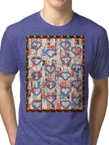 Cool patchwork country style gifts  Tri-blend T-Shirt