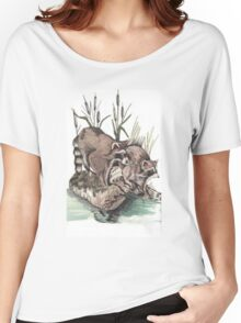 Raccoons On Rocks Women's Relaxed Fit T-Shirt