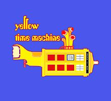 YELLOW TIME MACHINE PILLOW  by karmadesigner