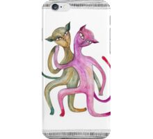 dancing cat couple iPhone Case/Skin