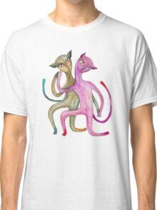 dancing cat couple Classic T-Shirt