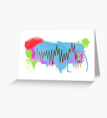 Graffiti-Waveform  Greeting Card