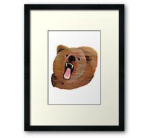 Pencil Bear Framed Print