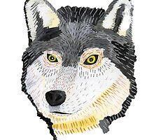 Pencil Wolf by ThomasAdams94
