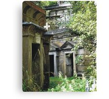 Highgate Cemetery within the Circle of Lebanon Canvas Print
