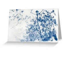 Blue Cyanotype Trees Greeting Card