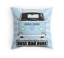 Best Dad Ever Pale Blue Sunburst Early Bay Throw Pillow