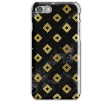Black Marble and Gold Geometric Pattern iPhone Case/Skin