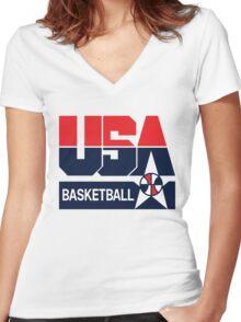 USA Basketball 1992 Dream Team Women's Fitted V-Neck T-Shirt