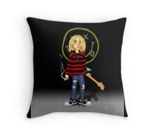 Kurt Cobain -Nirvana Throw Pillow