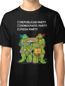 Ninja Turtles Pizza Party Classic T-Shirt