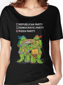 Ninja Turtles Pizza Party Women's Relaxed Fit T-Shirt