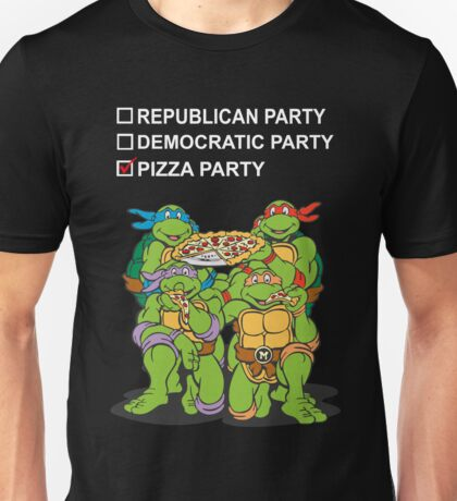 Ninja Turtles Pizza Party Unisex T-Shirt