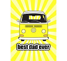 Best Dad Ever Yellow Sunburst Early Bay Photographic Print