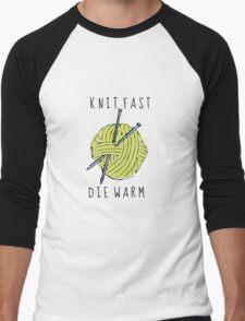 knit fast, die warm Men's Baseball ¾ T-Shirt