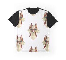 Flat Fox On White Ground Graphic T-Shirt