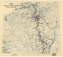 November 25 1944 World War II HQ Twelfth Army Group situation map Photographic Print