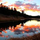 Colorado Lake Sunset by Christine Ford