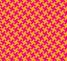 Retro Houndstooth by Lisann