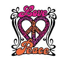 Love Peace Heart by Lisann
