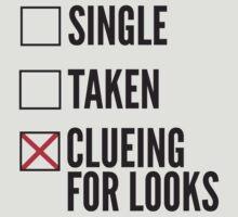 SHERLOCK SINGLE TAKEN CLUEING FOR LOOKS by fandomfashions