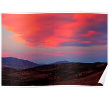 Lenticular Clouds over Lost Creek Wilderness, CO Poster
