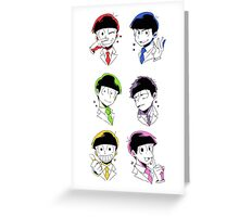 Osomatsu-san Brothers 2 Greeting Card