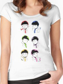 Osomatsu-san Brothers 2 Women's Fitted Scoop T-Shirt